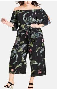 City Chic Trendy  Lily Pad Jumpsuit